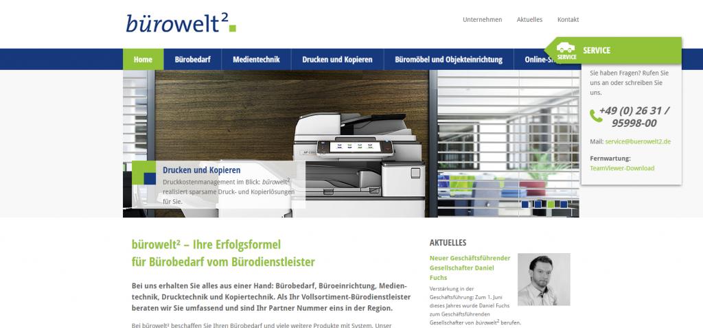 Home   bürowelt² GmbH   Co.KG